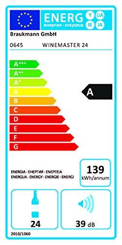CASO-WineComfort-24-Design-Weinkhlschrank-fr-bis-zu-24-Flaschen-bis-zu-310-mm-Hhe-zwei-Temperaturzonen-5-20C-Getrnkekhlschrank-Energieklasse-A