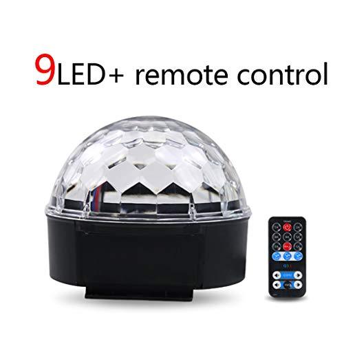 ll Lights 81 Objektiv-Bühnenlampe 9LED Strobe-Projektion 360 ° -Drehung für DJBar-Party Bühnenlampen (Farbe : 9LED+remote control) ()
