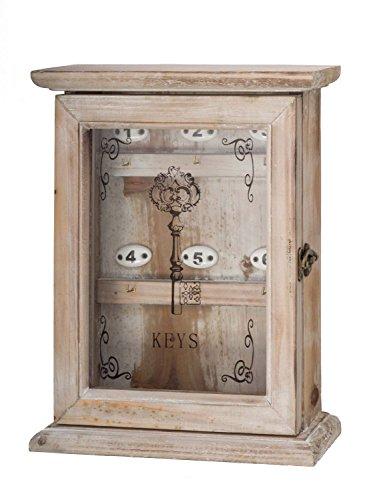 aubaho Schlüsselkasten im antik Stil Schlüssel keyholder Landhaus Shabby chic Holz