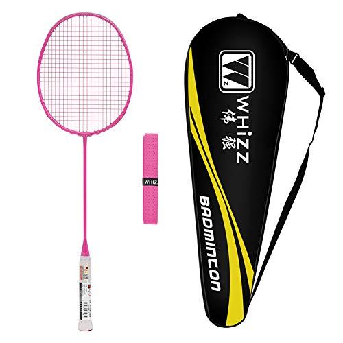 Whizz Badminton Schläger 5U mit Schlägertasche, One Piece Graphit, 79g (Rosa)