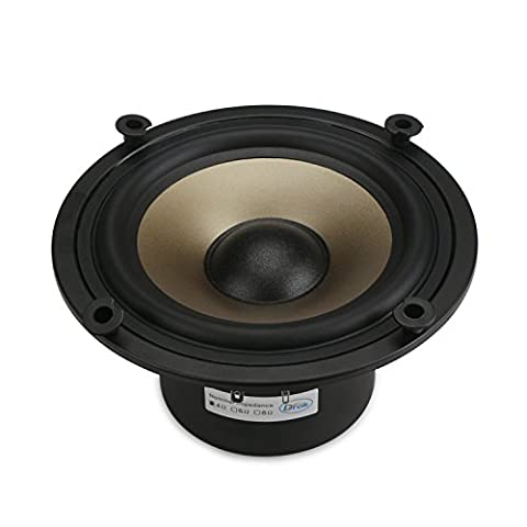 DROK® 6.5-inch 50W HIFI Subwoofer Speakers, 4 ohms Giant Magnetic Low-pitched Loudspeaker with Super Low Bass, 87dB High Sensitivity Audiophile Speakers, Home Woofer Stereo Speakers with178mm Outer