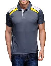 Scott Men's Jersey Collar Neck Sports Dryfit T-shirt - Grey