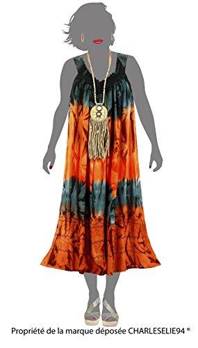 Charleselie94® - Robe été longue ample grande taille gris LOUNA GRIS Gris