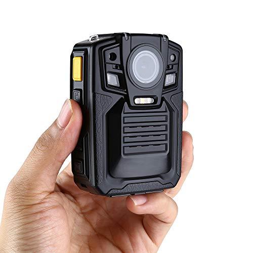 BESTSUGER Überwachungsvideorecorder, HD wasserdichte Polizei-Körper-Kamera, 64G WiFi HD 1296P Infrarotnachtsicht-Feldarbeits-Recorder,GPSVersion - Polizei-videorecorder