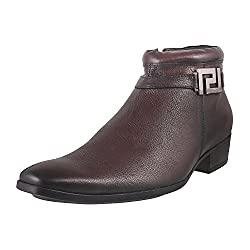 Mochi Men Brown Mocassin Boots
