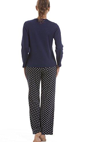 Pyjama - motif terrier écossais - bleu marine Bleu