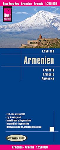 Reise Know-How Landkarte Armenien (1:250.000): world mapping project