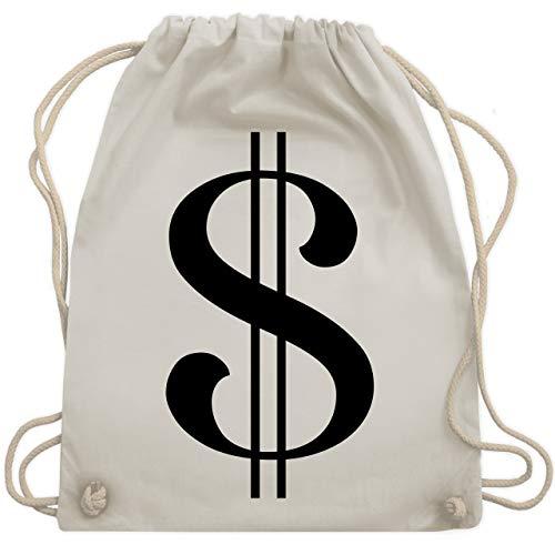 Karneval & Fasching - Dollar Kostüm - Unisize - Naturweiß - WM110 - Turnbeutel & Gym Bag (Verkleiden Ein Zeichen Als Sich)