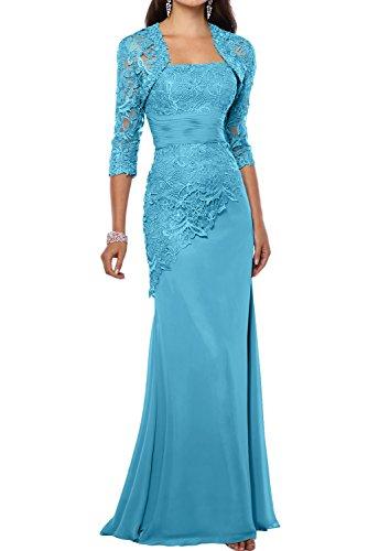 Damen Chiffon Spitze Lang Mermaid Abendkleider Partykleider FBA1483 219721