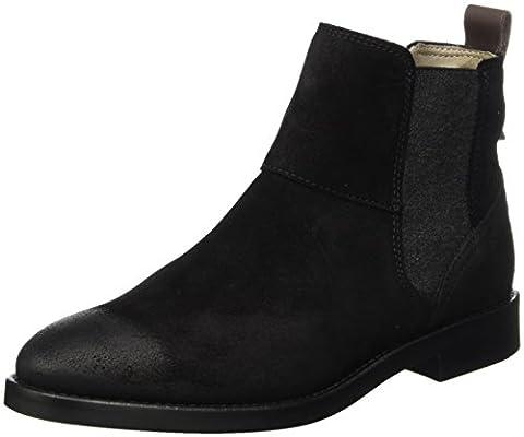 Marc O'Polo Flat Heel 70814225001304, Chelsea Boots Femme, Schwarz (Black), 38 EU