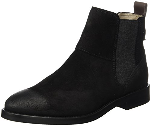 Marc O'Polo Damen Flat Heel Chelsea 70814225001304 Boots, Schwarz (Black), 39 EU (6 UK) (Flat Damen Heel Stiefel)