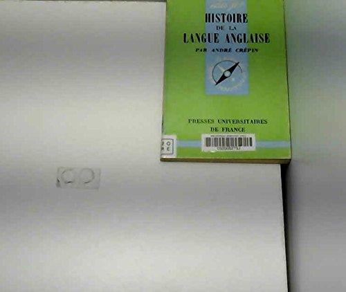 Histoire de la langue anglaise par André Crépin