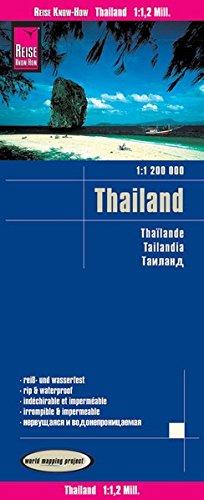 Tailandia, mapa de carreteras impermeable. Escala 1:1.200.000. Reise Know-How. por VV.AA.