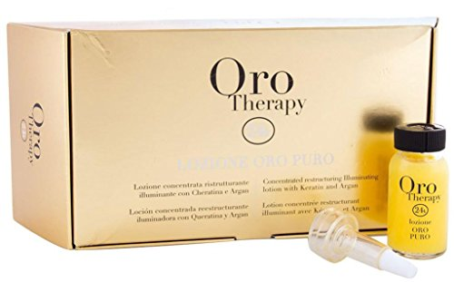 FANOLA ORO THERAPY Lozione Oro puro – concentra Ted Restructuring Illuminating Lozione with cheratina and Argan 12 X 10Ml, 120 ML