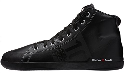 Reebok-Mens-Crossfit-Lite-Trainers-Leather-Powerlifting-Shoes-Sneakers-Black-V59968