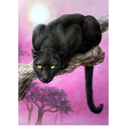 XIGZI DIY Diamant - Malerei - Kreuz - Stich Tier Diamant Mosaik Bilder Panther - Tiger - Katze - Diamant - Stickerei volle Diamant - Paintings Frameless - Kissen Glas-mosaik