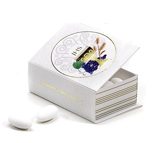 24 scatoline libro in cartone portaconfetti bomboniera comunione by mandorle bomboniere