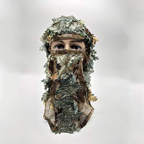 Imagen para AAlamor 3D Máscara De La Cara Completa Adulto Camuflaje Caza Bufanda Gorra Balaclava Invierno Sombrero Campana