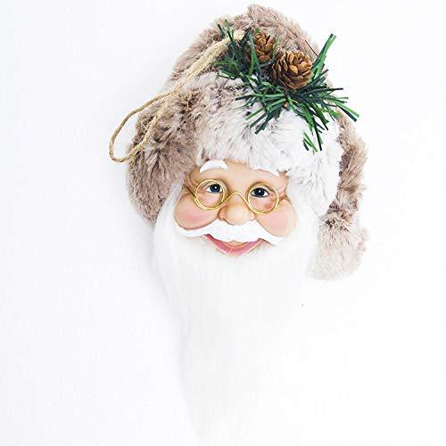 juler 2 stücke Saisonale Dekor Weihnachten Neuheit Dekoration Weihnachten Wein Set Weihnachtsbaum Top Dekoration Weinflasche Set Weihnachten Tischdekoration,Pinie-Nuss-Kapp,L