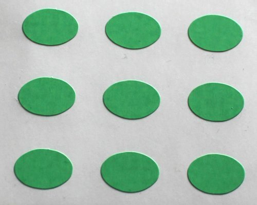 150 Etiquetas, 10x7mm óvalos, Verde, pegatinas autoadhesivas, Minilabel Formas