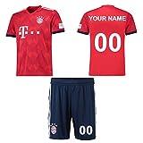 Panicy Benutzerdefinierte Bayern München Home Football Baseball Training Trikots für Kinder Jungen - Machen Sie Ihre eigenen Jersey T-Shirts - Personalisierte Uniformen mit Ihren Namen, Zahlen