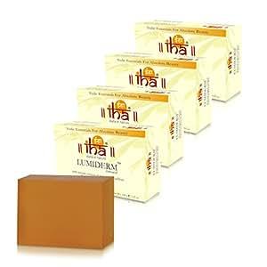IHA Lumiderm Natural - Ayurvedic Soap With Turmeric & Saffron (100% Herbal, No harmful Chemical, Pack of 4x100gm), 400gm