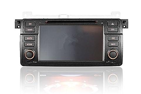 Gowe Lecteur DVD de voiture 17,8cm Navigation GPS pour BMW E46M3Old 3Series 1998–2006avec RDS/DVD/GPS/Bluetooth/FM/AM/Canbus/SWC/iPod/USB/ATV