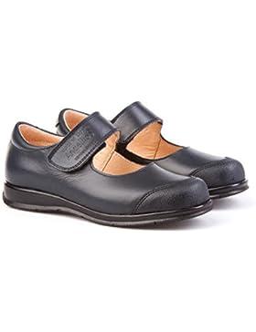 ANGELITOS Zapatos Merceditas Colegiales con Puntera Reforzada Todo Piel, Mod.463. Calzado infantil (Talla 22 -...