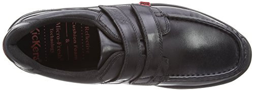 Kickers  Reasan Strap Leather AM, mocassins homme Noir (Black)