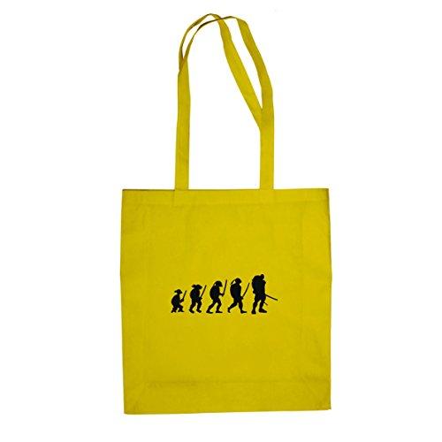 Turtle Evolution - Stofftasche / Beutel, Farbe: gelb