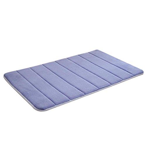 Transer® Memory Foam Matte saugfähig rutschfeste Pad Badezimmer Dusche Bad-Teppiche Antislip, blau, 50 x 80 cm (Bad-teppich Gelb Blau)