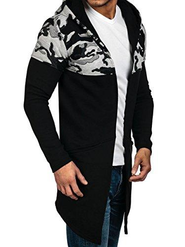 BOLF – Sweat-shirt á capuche – Manches longues – Hoodie – Motif – Homme [1A1] Noir