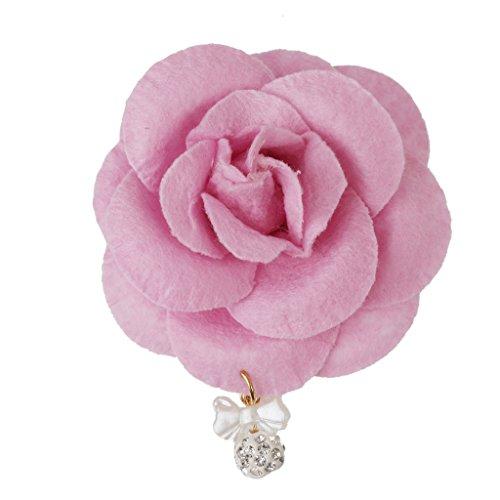 Fleurs De Cheveux De Mariée Pince à Cheveux Rose Barette Femmes Accessoires Filles