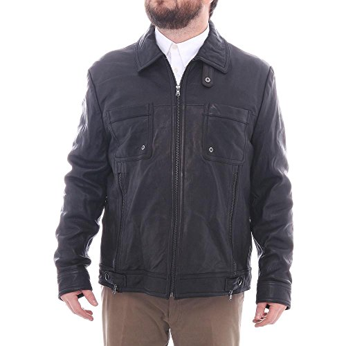 kenneth-cole-reaction-herren-bubble-lamb-bikerjacke-schwarz-grosse-2xl
