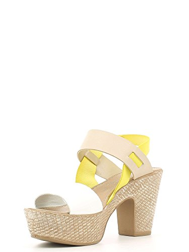 GRACE SHOES 20260 Sandalo tacco Donna Beige