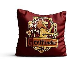 MC SID RAZZ Harry Potter Gryffindor Satin Cushion Cover, 16 X 16-inch