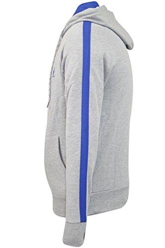 Nuovo alevros Kangol marca Fleece Zip Up con cappuccio Tuta Top Jogger inferiore Designer Rochford Hoodie - Grey Marl