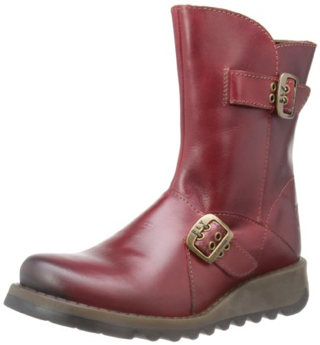 Fly London Seti Rug Damen Stiefel Rot (Red 001)
