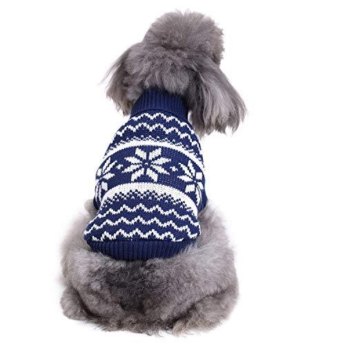 Butler Hunde Kostüm - OVCK PET CARE Hund Kostüm Stricken Warm Halten Sweatshirt Frühling Herbst Kleiner Mittlerer Hund Hund Kleider Warm/B/L