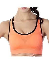 7f231cbbd7bcc Soutien-Gorge de Sport Femme sans Armature Push Up Bra Yoga Jogging Fitness  Course Sports