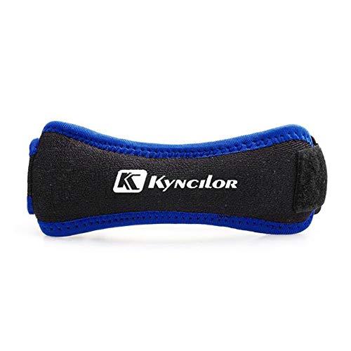 RTGFS Einstellbare Patella Kniesehnenband Protector Guard Support Pad Belted Sport Knieorthese Schwarz Keenpads OutdoorBlau -