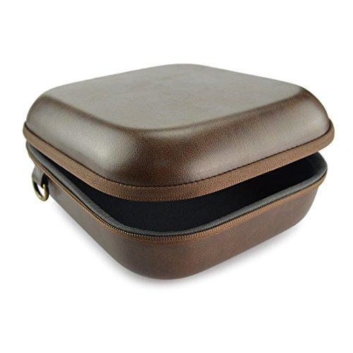 Geekria EJB01cuffie custodia/Headphone Full size hard shell Large Carrying case/cuffia borsa da viaggio con spazio per auricolari, cavo e accessori (marrone)