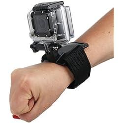 Duragadget Sangle poignée/Bracelet de Fixation Noir Ajustable pour Xiaomi Xiaoyi Mini Nette Action et YI 4K+ et VTIN Eypro1 - caméra embarquée