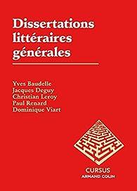 Dissertations littéraires générales par Yves Baudelle