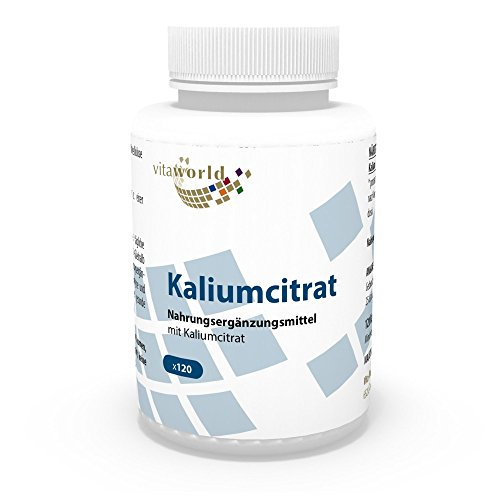 Vita World Kaliumcitrat 825mg Tagesdosis 120 Kapseln Apotheken Herstellung Kalium Citrat