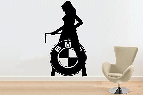 Wandtattoo BMW-Girl Größe L