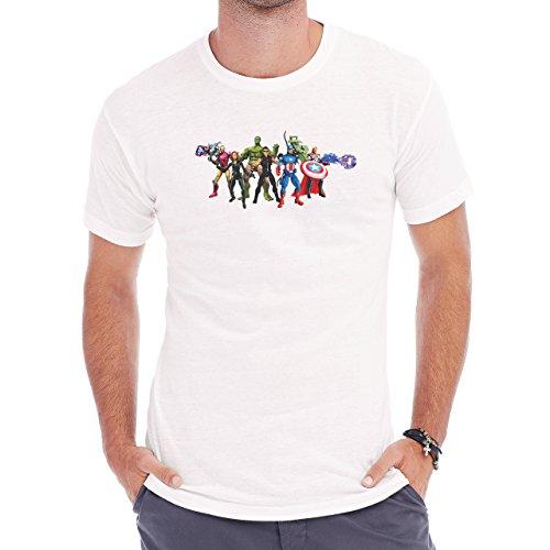 The Avengers All Action Figures Herren T-Shirt Weiß