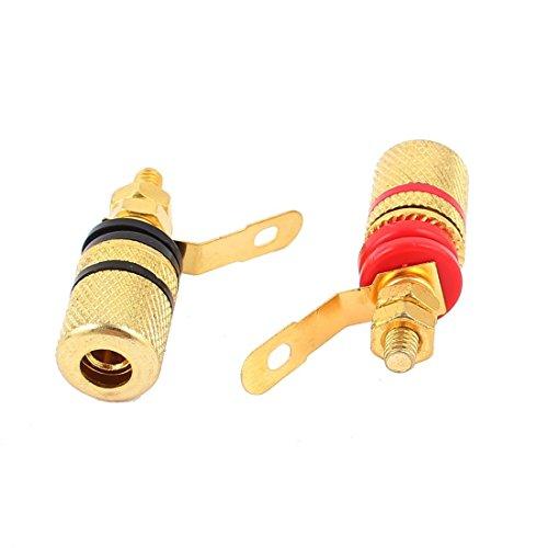Kupfer Anschluss - TOOGOO(R) 2 Stueck Vergoldete Nachverstaerker Lautsprecher Anschluss