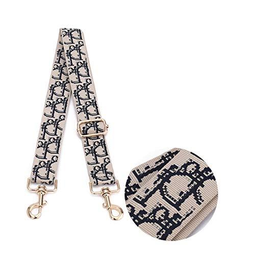 3,8 cm Breite Leinwand Schultergurt Für Tasche Ersatz Strap Handtasche Griffe Geometrische Plaid Gürtel Damen Tasche Zubehör 14 -