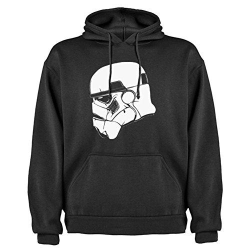 Felpa con cappuccio Star Wars Trooper Di Profilo By Bikerella NERO/BIANCO XXL